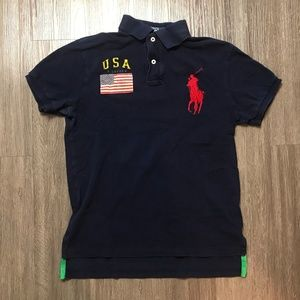 Polo Ralph Lauren Polo Shirt Big Pony USA Flag